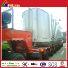 100/120/150/200ton Heavy Duty Low Bed Hydraulic Modular Trailer